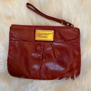 Marc by Marc Jacobs Red leather wristlet clutch